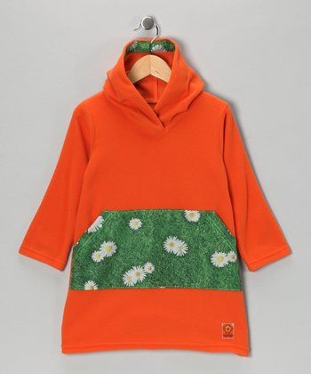Tangerine Daisy Fleece Tunic - Infant, Toddler & Girls