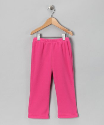 Hot Pink Fleece Pants - Toddler & Kids