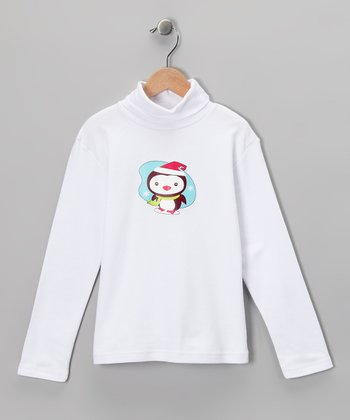 White Penguin Turtleneck - Toddler & Kids