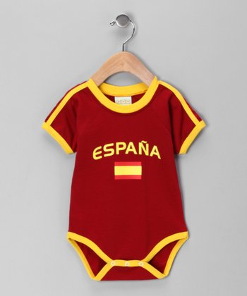 Wine 'España' Flag Bodysuit - Infant