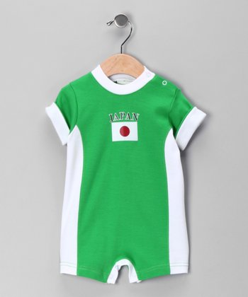 Green 'Japan' Romper - Infant