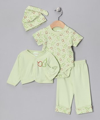 Green Apple Pants Set - Infant