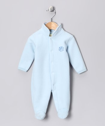 Blue Polar Fleece Footie - Infant
