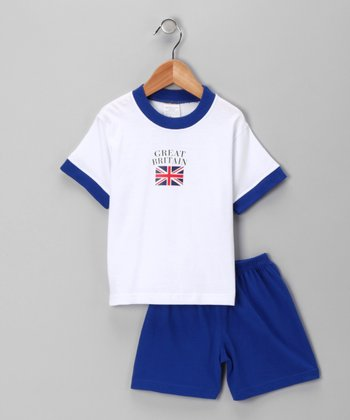 Royal 'Great Britain' Flag Tee & Shorts - Toddler & Kids