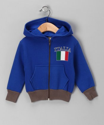 Royal 'Italy' Zip-Up Hoodie - Infant
