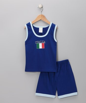 Royal 'Italia' Flag Tank & Shorts - Infant, Toddler & Kids