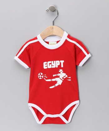 Red 'Egypt' Goal Bodysuit - Infant