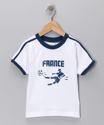 White 'France' Goal Tee - Infant, Toddler & Kids