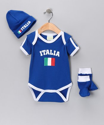 Royal 'Italy' Flag Bodysuit Set - Infant
