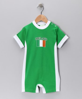Green & White 'Ireland' Flag Romper - Infant