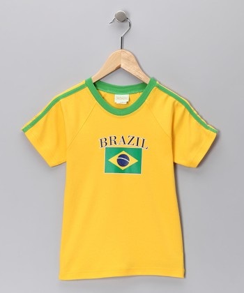 Gold & Green 'Brazil' Flag Tee - Infant, Toddler & Kids
