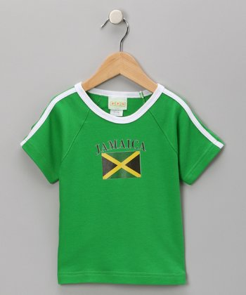 Green 'Jamaica' Flag Tee - Infant, Toddler & Kids