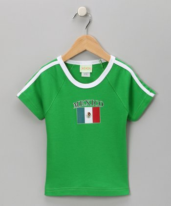 Green 'Mexico' Flag Tee - Infant, Toddler & Kids