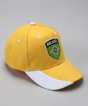 Gold & Green 'Brazil' Flag Baseball Cap