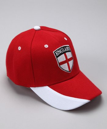 Red 'England' Flag Baseball Cap