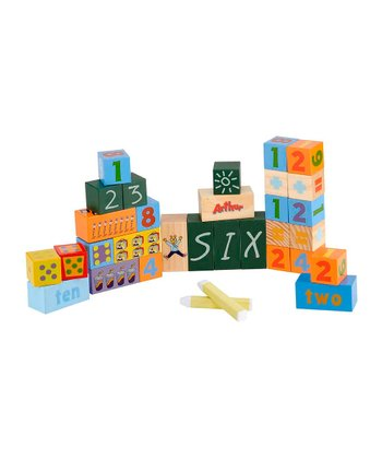 Arthur's Chalkboard Number Block Set
