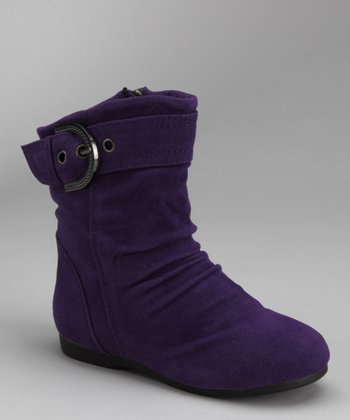 Purple Zip-Up Carina Boot