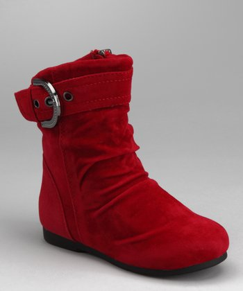 Red Zip-Up Carina Boot
