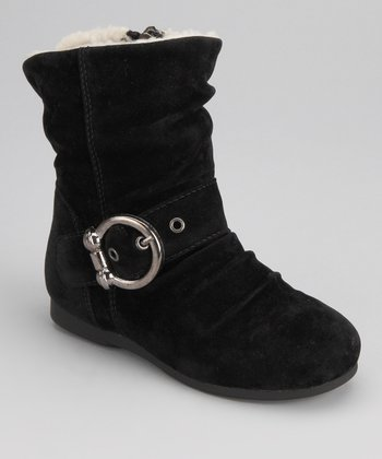Black Lined Zip-Up Carina Boot