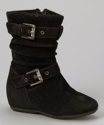 Black Zip-Up Gloria Boot