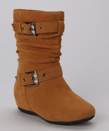 Camel Zip-Up Gloria Boot