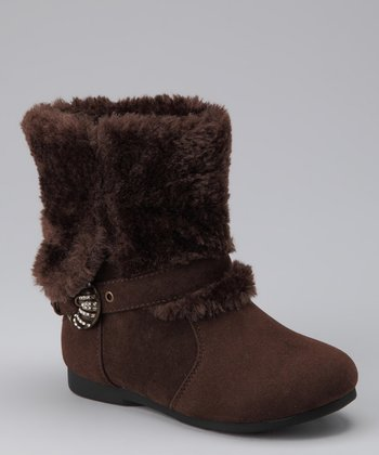 Brown Sparkle Buckle Liberty Boot