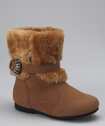 PINKY FOOTWEAR Camel Liberty Sparkle Buckle Boot