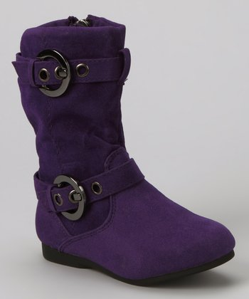 Purple Loretta Zip-Up Boot