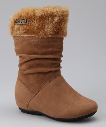 Camel Zip-Up Cuff Missouri Boot