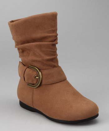 Camel Zip-Up Thalia Boot