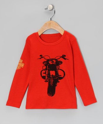 Red Motorcycle Tee - Boys
