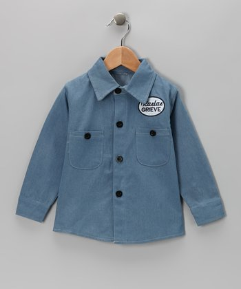 Denim Patch Button-Up - Boys