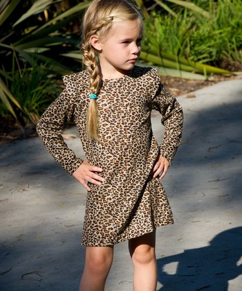 Leopard Swing Dress - Toddler & Girls
