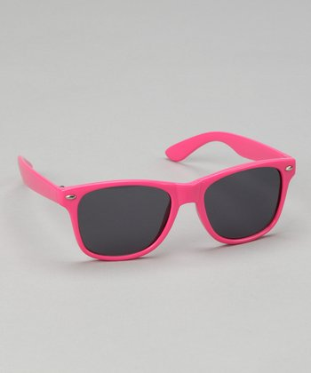 Hot Pink Retro Sunglasses