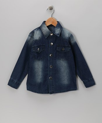 Blue Denim Button-Up - Toddler & Boys
