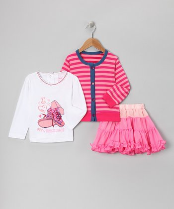 Pink Stripe Pettiskirt Set - Toddler