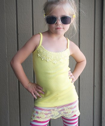 Yellow Lace Camisole - Toddler & Girls