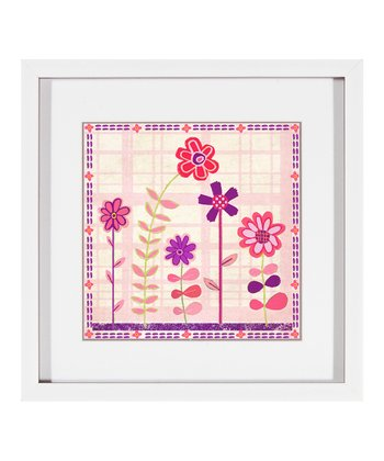 Right Cutesy Flowers Framed Print