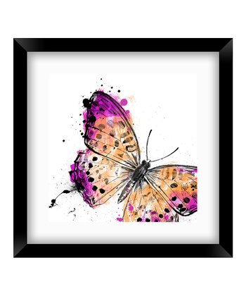 Fuchsia Butterfly Crop Framed Print