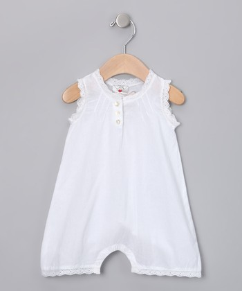 White Lace Romper - Infant