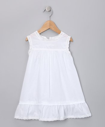 White Ruffle Dress - Toddler