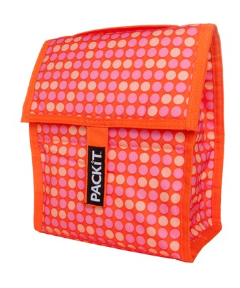 Orange & Pink Polka Dot Lunch Cooler