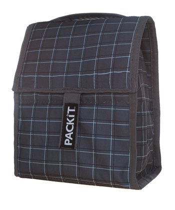 Gray & Blue Plaid Lunch Cooler