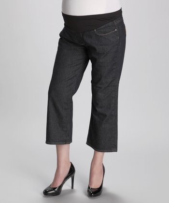 Celestial Laurel Canyon Cropped Maternity Jeans