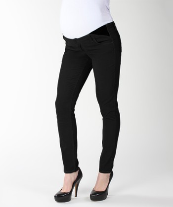 Black Overdye Union Maternity Leggings