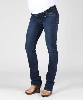 Amethyst Skyline Under-Belly Maternity Straight-Leg Jeans