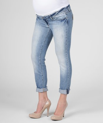 Icon Skinny Boyfriend-Fit Maternity Jeans