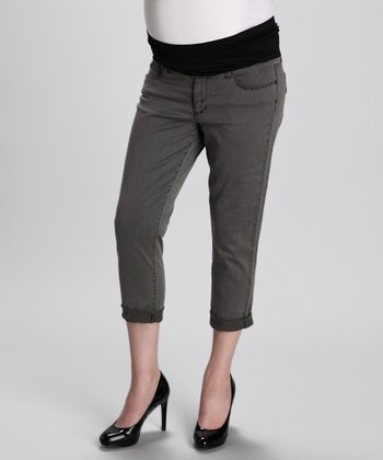 Wildlife Gray Venice Maternity Cropped Jeans