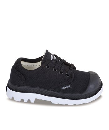 Black & White Pampa Lace-Up Sneaker