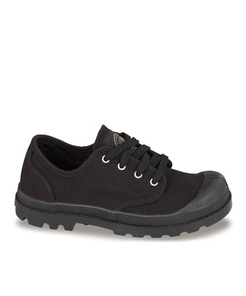 Black Pampa Lace-Up Sneaker